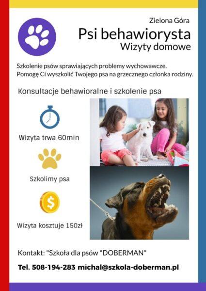 behawiorysta psi wizyty domowe